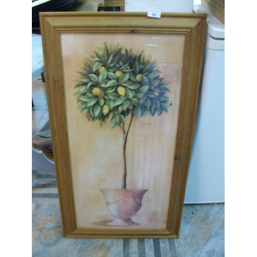 55 - Flower Picture in Pine Frame...