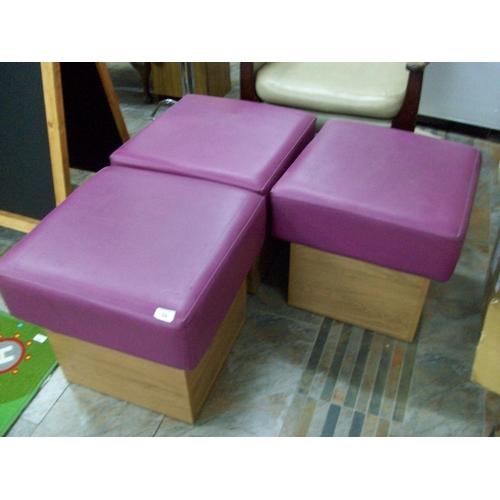 56 - 3 Purple Stools...