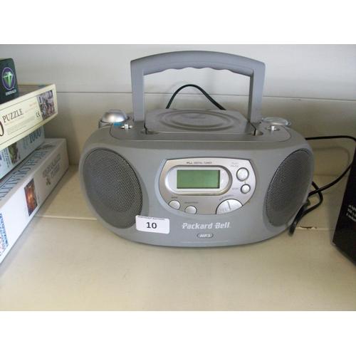 10 - Packard Bell CD/Radio...