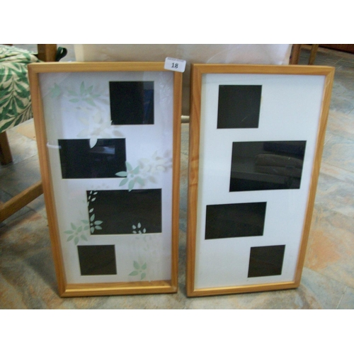 18 - 2 Glass Wooden Photo Frames...