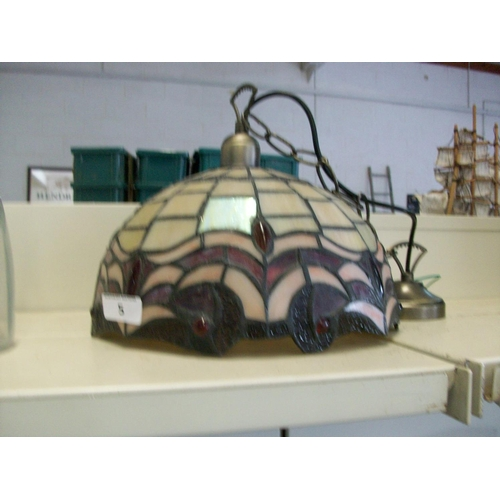 5 - Tiffany Style Ceiling Lamp...