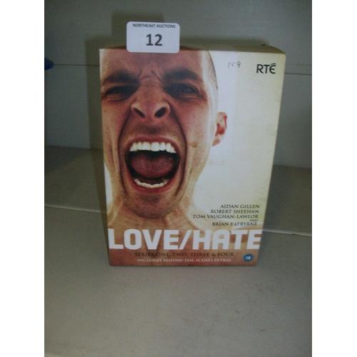12 - Love/Hate Series 1-4 DVD Set...