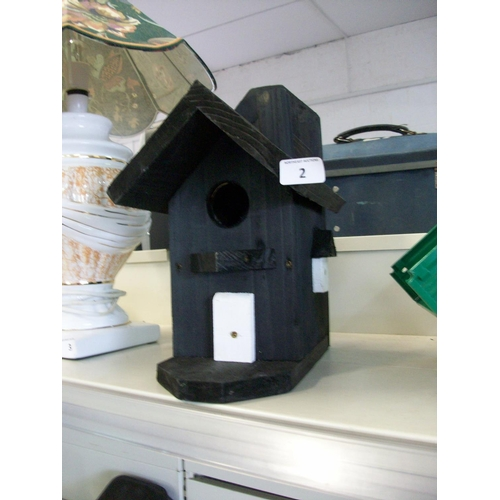 2 - Hand Crafted Wooden Bird House...