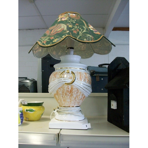 3 - Continental Style Table Lamp...