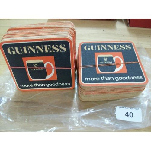 40 - 2 Bundles of Very Old Guinness Beer Mats...