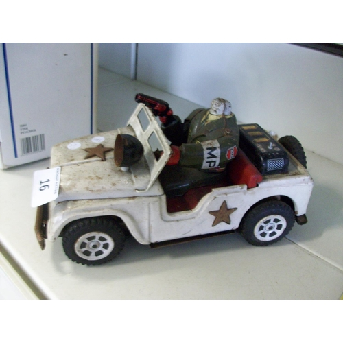 16 - Vintage Army Jeep Toy...