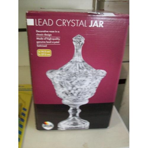 18 - Lead Crystal Jar in Box...