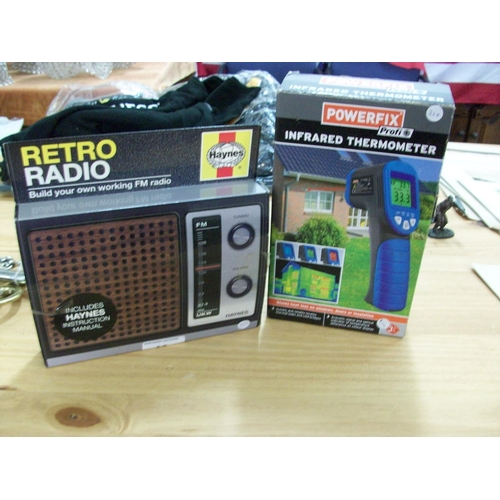 49 - Infra Red Thermometer and Retro Radio...