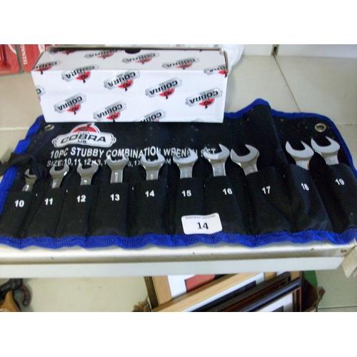14 - New 10 Pce Spanner Set...
