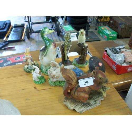 29 - Assortment of Animal Ornaments...