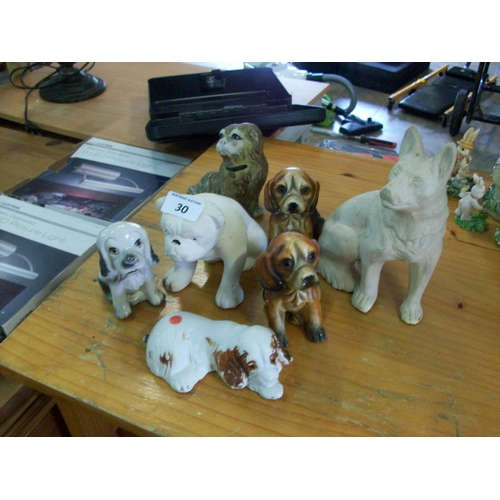 30 - Selection of Dog Ornaments...