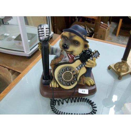 43 - Decorative Teddy Bear Telephone...