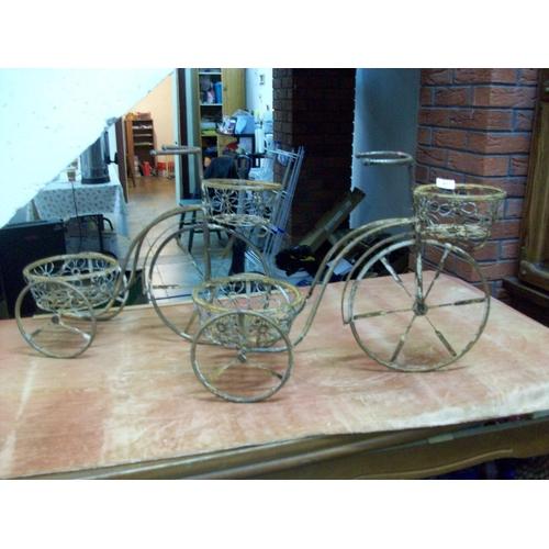 47 - Pair of Steel Penny Farthing Plant Holders...