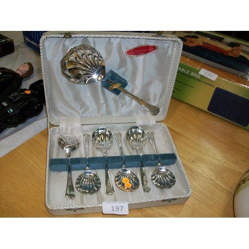 197 - Vintage EPNS Dublin Spoon Set...