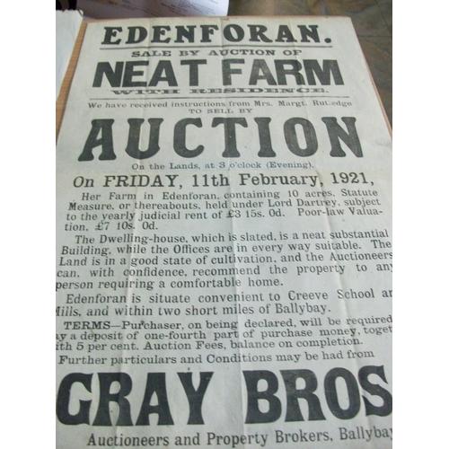230 - Edenforan - Ballybay,Near Creeve School,Auction of Neat Farm and Residence 11th Feb 1921 - Original-...