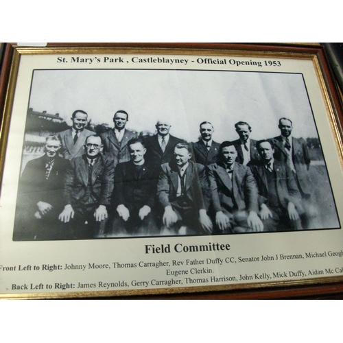 239 - Official Opening of St Marys Park Castleblayney 1953 - Copy Photograph in Frame...