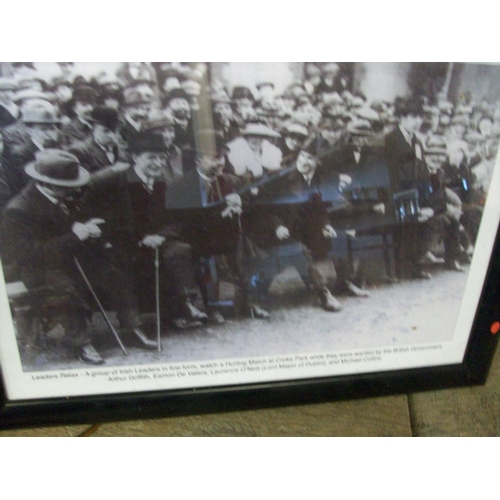 240 - Leaders Relax - Arthur Griffith,Eamon De Valera,Laurence O Neill and Michael Collins at a Hurling Ma...