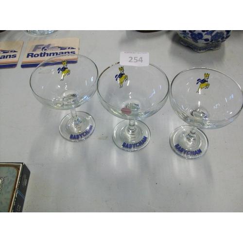 254 - 3 Collectible Babycham Glasses...