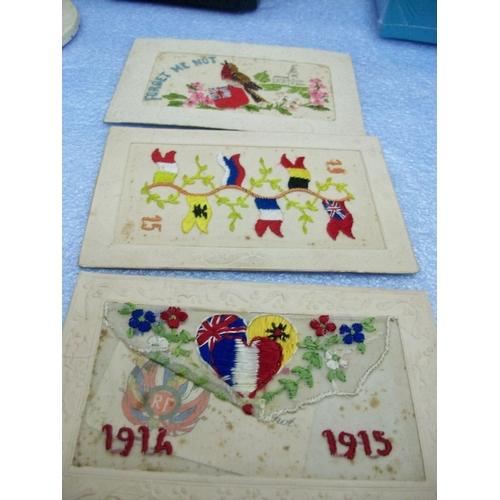 276 - 3 WW1 Handmade Postcards...