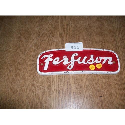 311 - Ferguson Cast Iron Sign...