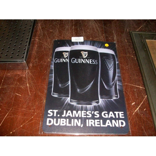 325 - Guinness Ad Tin Sign...