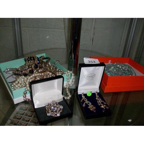 353 - Lot of Costume Jewellery...