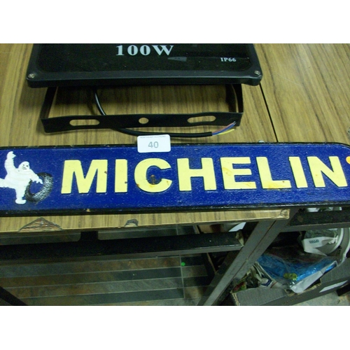 40 - Cast Iron Michelin Sign...
