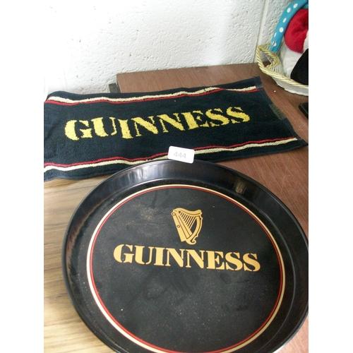 444 - Guinness Towel & Original Tray...