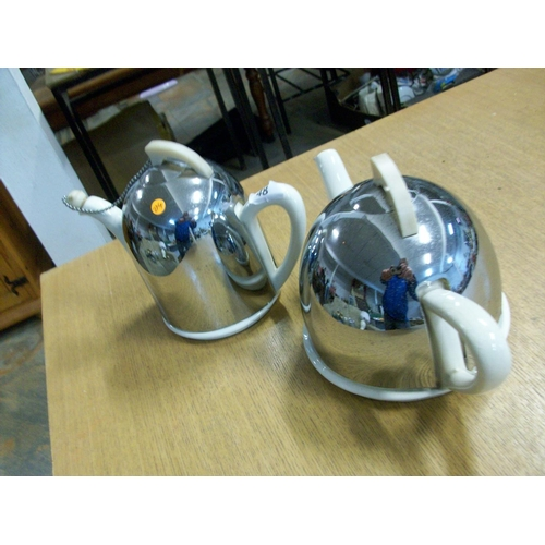48 - Silver Plated Cover Coffee & Teapots...