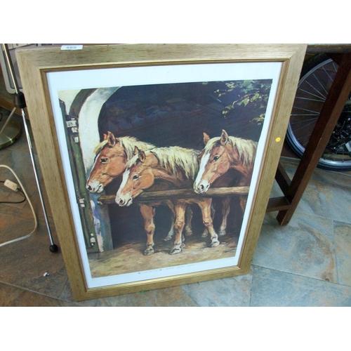 489 - Framed Horse Print...