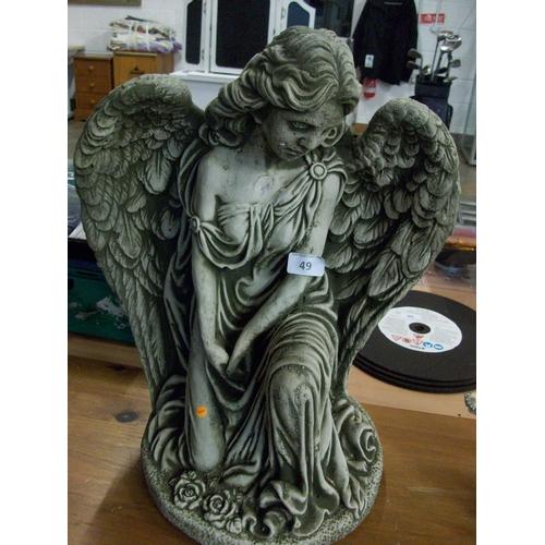49 - Concrete Angel Ornament...