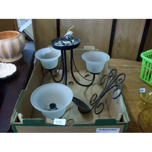 520 - 3 Branch Ceiling Light & Candle Holder...