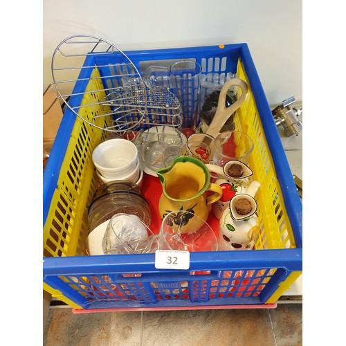 32 - Crate Lot of Crockery Items...