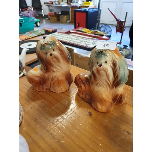 45 - Small Pair of Mantle Dogs...
