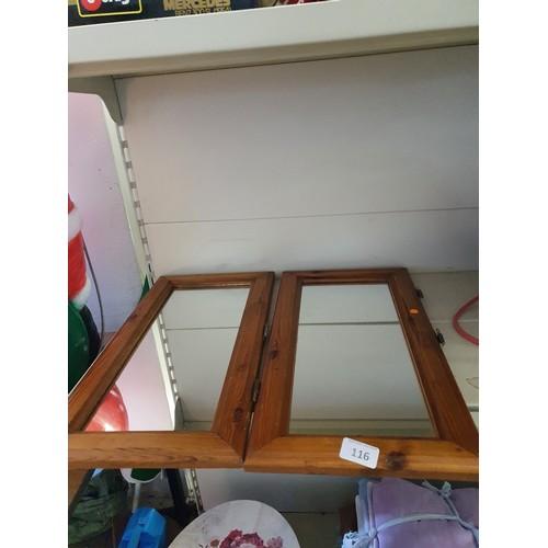 116 - 2 Mirrored Cabinet Doors...