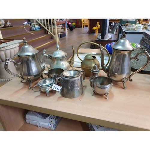 525 - Assortment of Silver Plated and Brass Items...