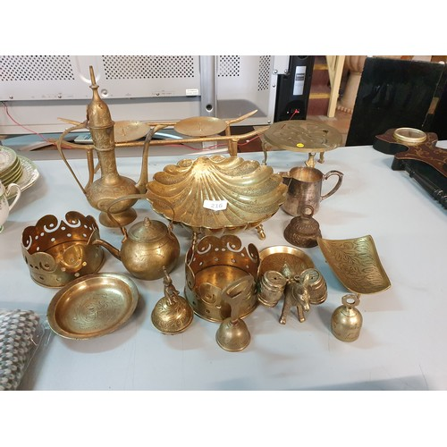 216 - Large Selection of Brass Items...