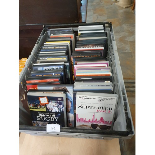 91 - Large Assortment of DVDs...