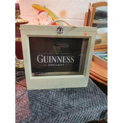 423 - Light up Guinness Advertising Cabinet...