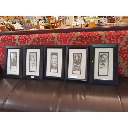 462 - Framed Famous People - 3 Oscar Wilde, Samuel Beckett & Groucho Marx...