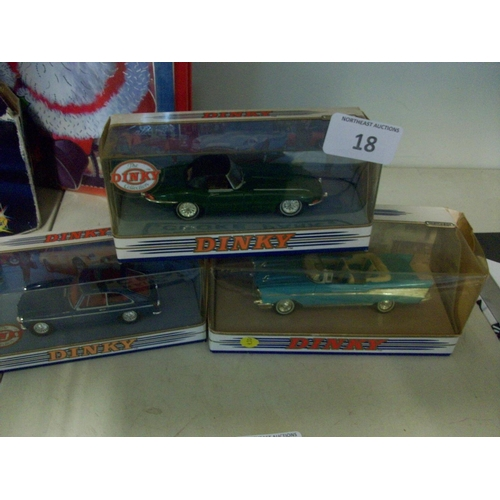 18 - 3 Boxed Dinky Car Models...