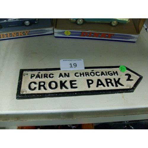 19 - Small Croke Park Cast Sign...