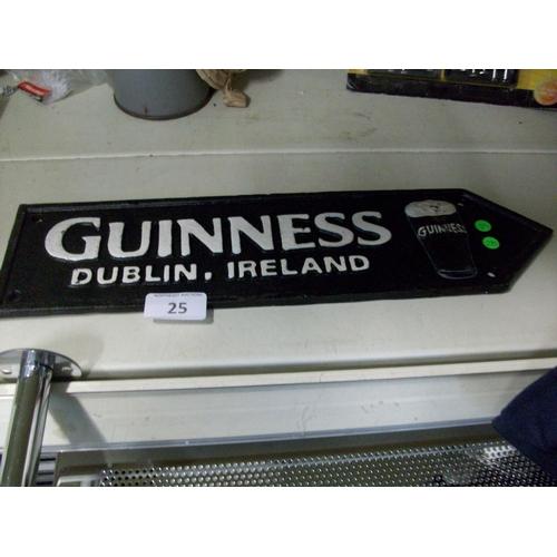 25 - Cast Iron Guinness Sign...