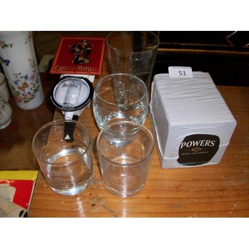 51 - Assortment of Pub Items...