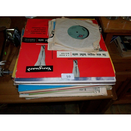 59 - Large Assortment of LPs & 45s...