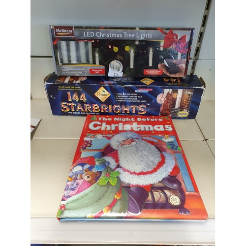17 - 2 Sets of Xmas Lights (w) & Xmas Book...