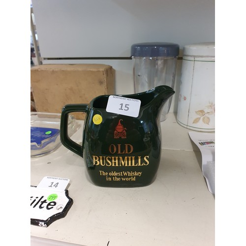 15 - Old Bushmills Pub Water Jug by Wade...