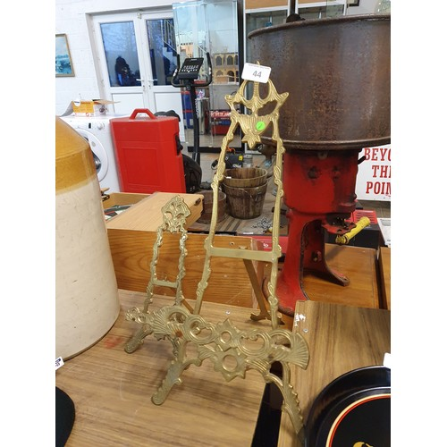 44 - 2 Brass Picture/Paintings Easels...
