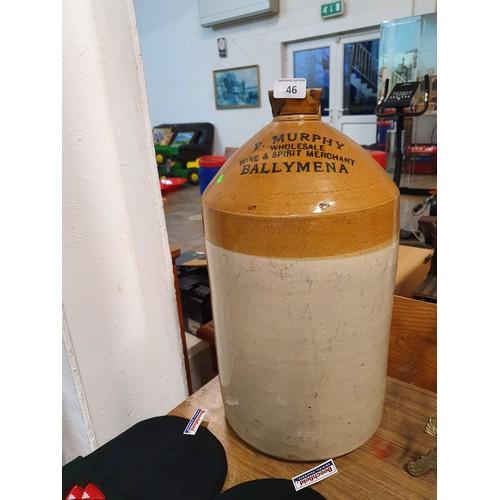 46 - Ballymena Stoneware Jar - P Murphy...