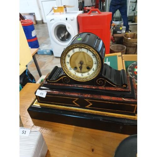49 - Heavy Ornate Mantle Clock...